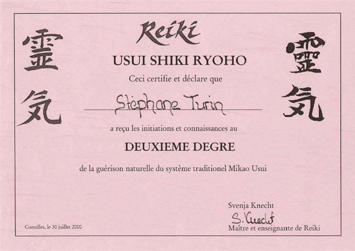 Diplome Reiki